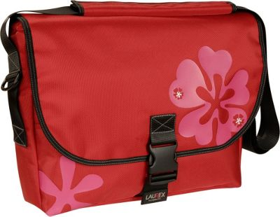 Laurex Laptop Messenger Bag -Large Red Clover - Laurex Messenger Bags