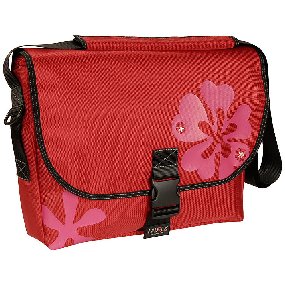 Laurex Laptop Messenger Bag Large Red Clover Laurex Messenger Bags