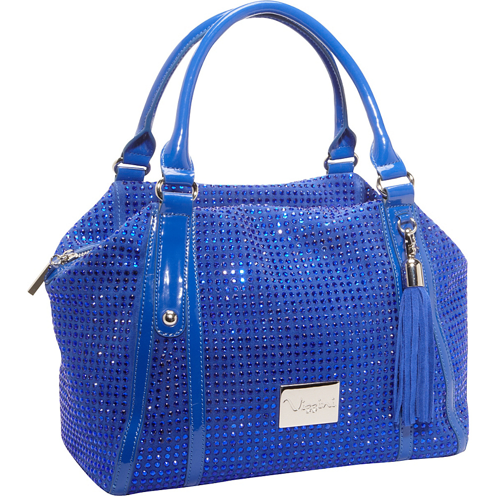 Vizzini Inc. Blue Genuine Leather Blue Vizzini Inc. Leather Handbags
