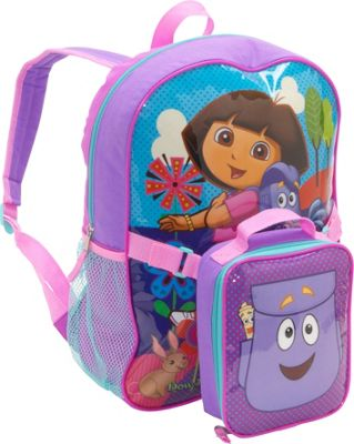 Nickelodeon Dora Backpack with Lunch Sack