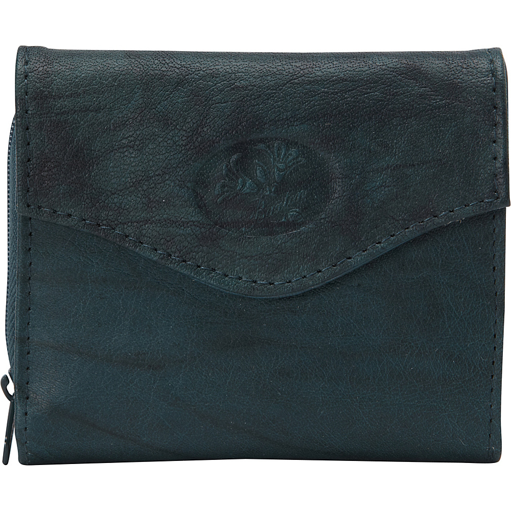Buxton Heiress Leather Zip Purse Deep Teal - Buxton Womens Wallets - Women's SLG, Women's Wallets