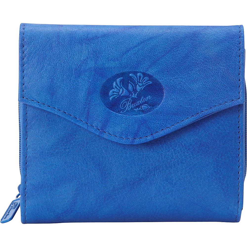 Buxton Heiress Leather Zip Purse Strong Blue - Buxton Womens Wallets - Women's SLG, Women's Wallets