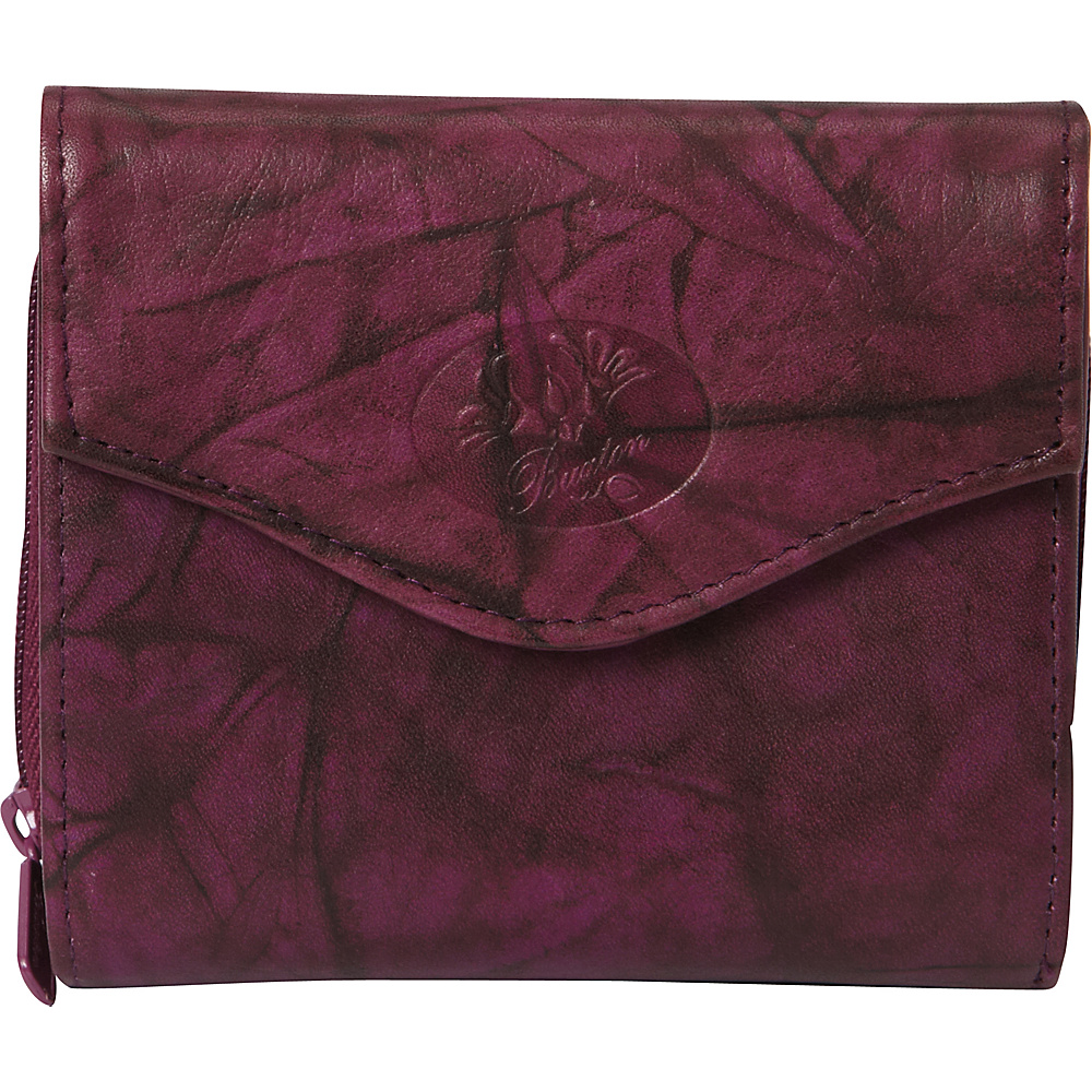 Buxton Heiress Leather Zip Purse Magenta Purple - Buxton Womens Wallets - Women's SLG, Women's Wallets