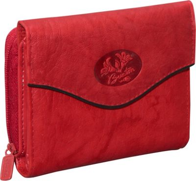 Buxton Heiress Leather Zip Purse Red - Buxton Women's Wallets