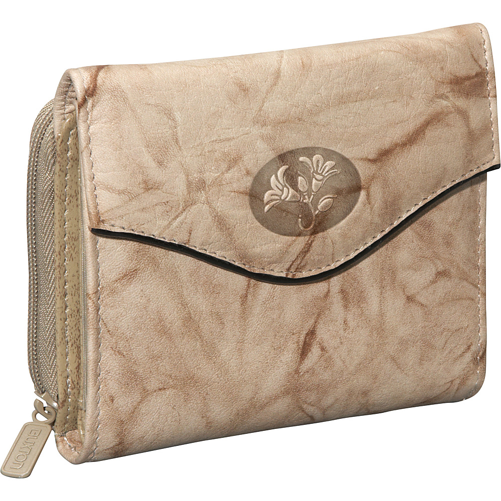 Buxton Heiress Leather Zip Purse Taupe - Buxton Womens Wallets - Women's SLG, Women's Wallets
