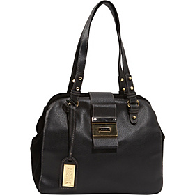 Julia Cambridge Top Zip Satchel Black