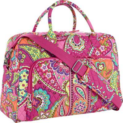 Vera Bradley Weekender Satchel Pink Swirls - Vera Bradley Luggage Totes and Satchels