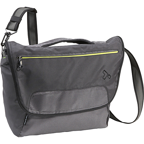 Travelon Anti-Theft React Large Messenger Bag Slate - Travelon Laptop Messenger Bags