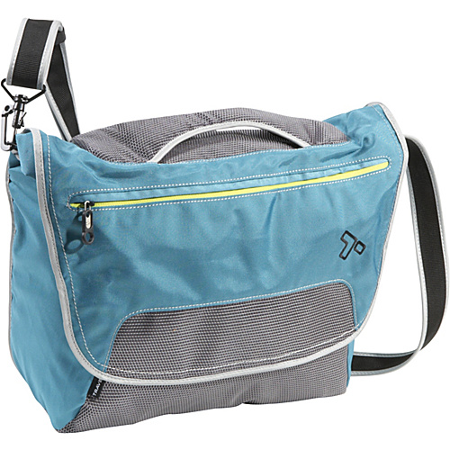 Travelon Anti-Theft React Large Messenger Bag Teal - Travelon Laptop Messenger Bags