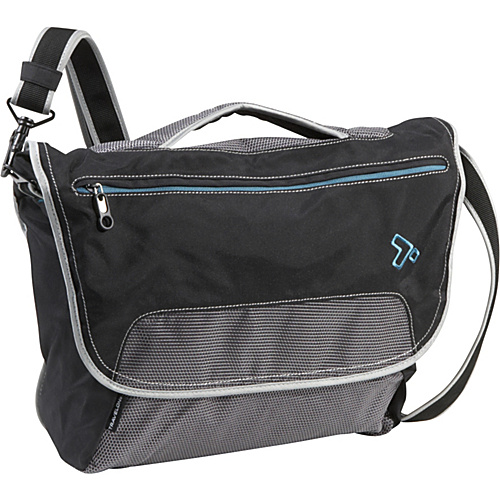 Travelon Anti-Theft React Large Messenger Bag Black - Travelon Laptop Messenger Bags