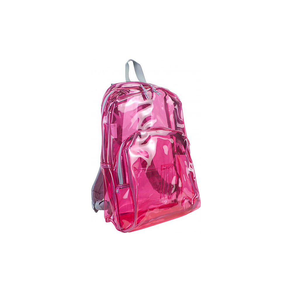 Eastsport Clear Backpack Clear Pink Eastsport Everyday Backpacks