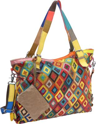 AmeriLeather Bailey Tote Rainbow - AmeriLeather Leather Handbags