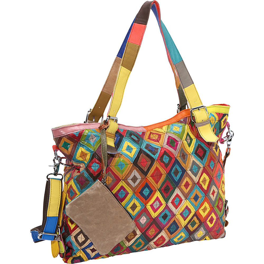 AmeriLeather Bailey Tote Rainbow - AmeriLeather Leather Handbags - Handbags, Leather Handbags