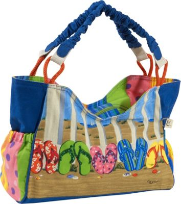 Sun 'N' Sand Coastal Flip Flop Tote Multi - Sun 'N' Sand Fabric Handbags