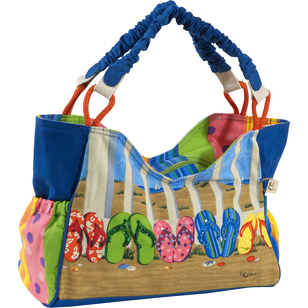 Sun N Sand Coastal Flip Flop Multi Sun N Sand Fabric Handbags