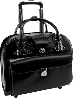 McKlein USA McKlein USA Edgebrook Wheeled Ladies 15 inch Laptop Case Black - McKlein USA Wheeled Business Cases