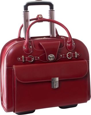 McKlein USA McKlein USA Edgebrook Wheeled Ladies 15 inch Laptop Case Red - McKlein USA Wheeled Business Cases