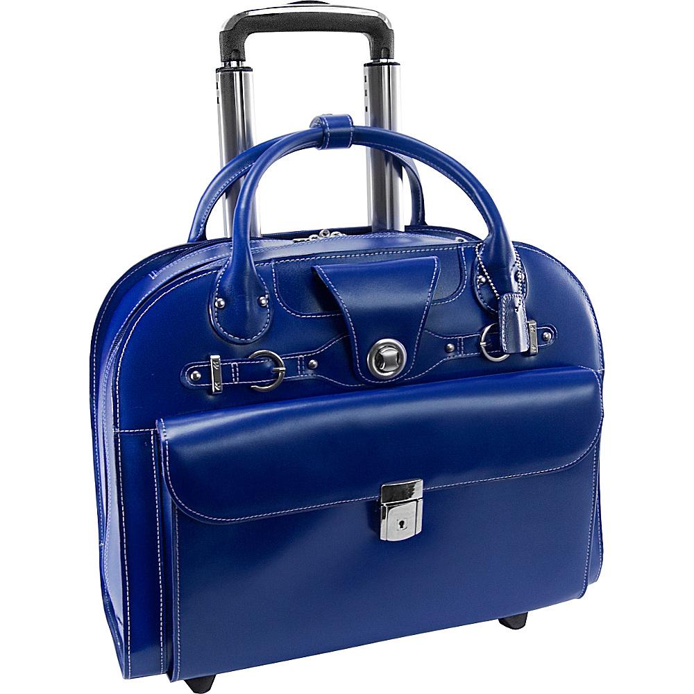 McKlein USA Edgebrook Wheeled Ladies 15 Laptop Case Navy McKlein USA Wheeled Business Cases
