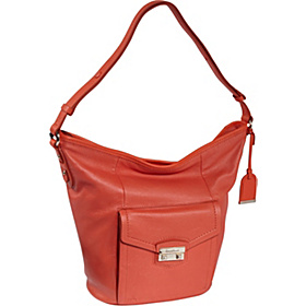 Zoe Bucket Bag Orange Pop