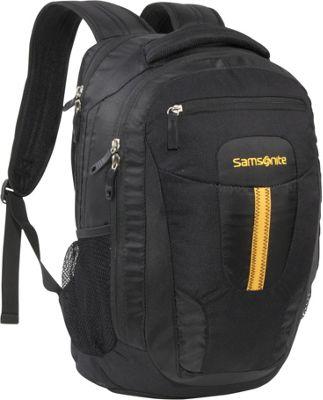 Samsonite Jacksonville Backpack Black Yellow Samsonite Laptop Backpacks