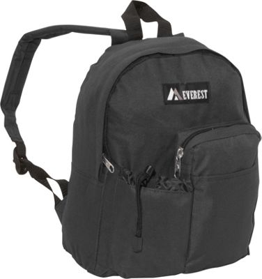 Everest Junior Backpack with Bottle Pocket Black - Everest Everyday Backpacks