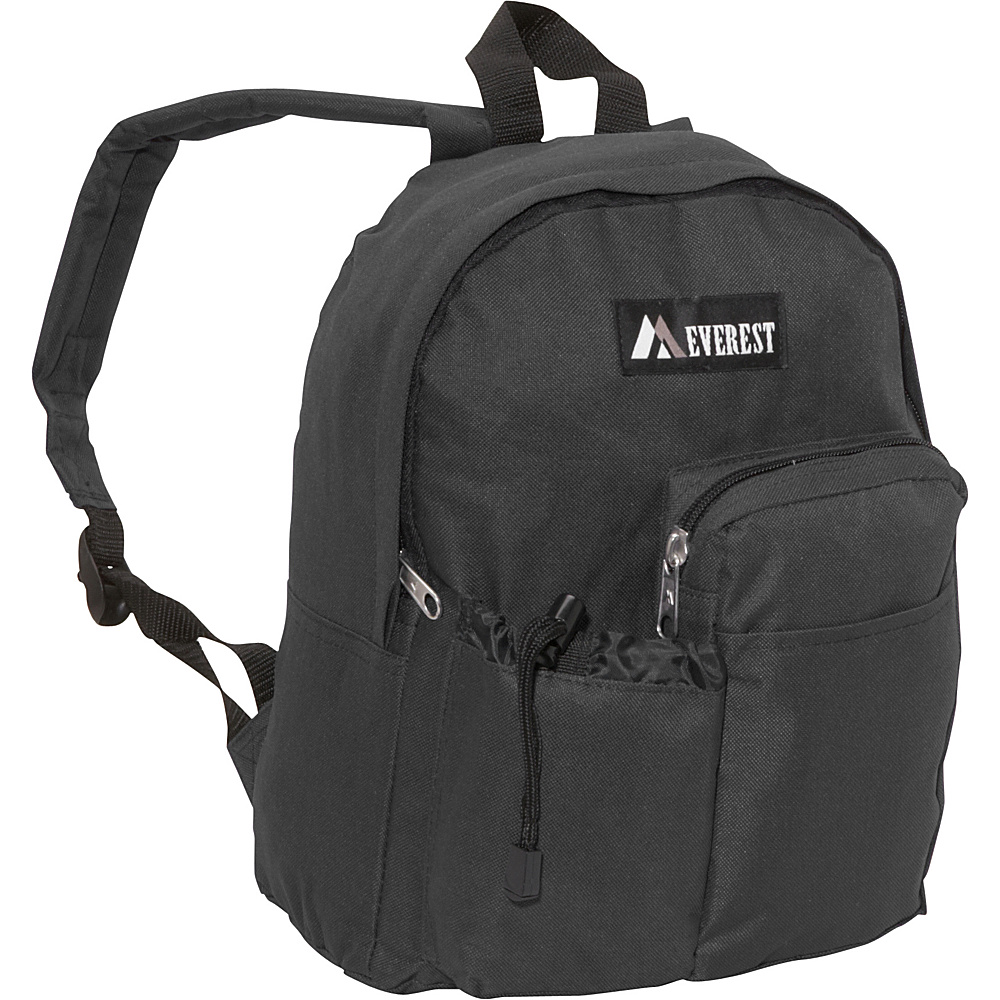 Everest Junior Backpack with Bottle Pocket Black - Everest Everyday Backpacks
