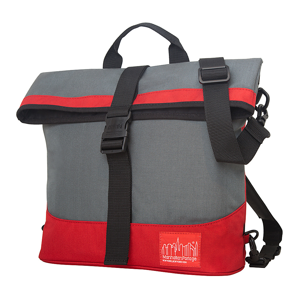 Manhattan Portage Double Dare Convertible Grey/Red - Manhattan Portage Other Men's Bags