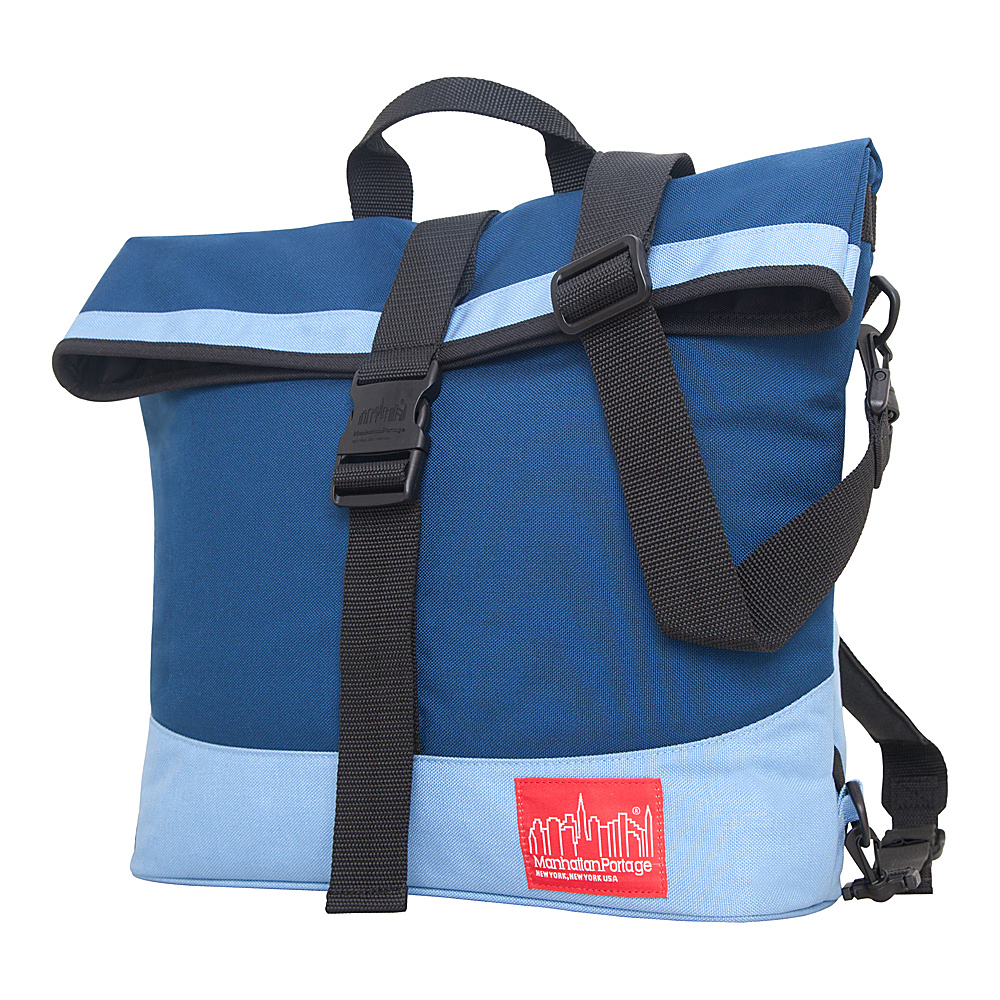 Manhattan Portage Double Dare Convertible Navy/Ice Blue - Manhattan Portage Other Mens Bags - Work Bags & Briefcases, Other Men's Bags