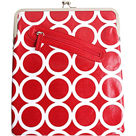iPad Clutch Red Circles