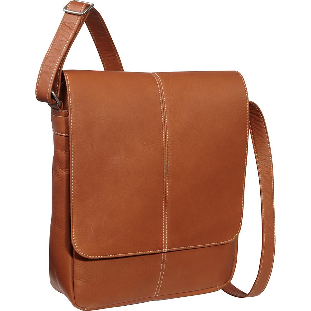 Le Donne Leather Flap Over E-Reader/iPad Bag Tan - Le Donne Leather Men's Bags