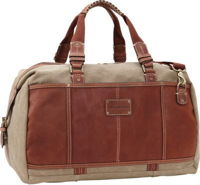 Tommy Bahama The Casual Bag Duffle Khaki/Cognac - Tommy Bahama Travel Duffels