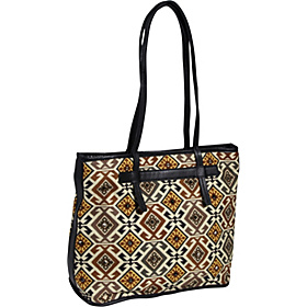 Tiled Symmetry Teresa Box Tote Black