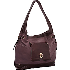 Oliver Key Lock Pocket Hobo Plum