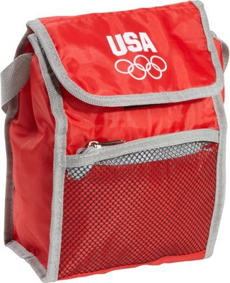 Extended Exposure Olympic Games Red Insulated Lunch Bag