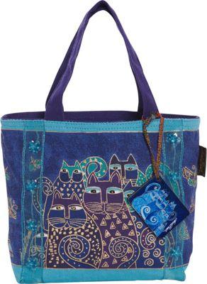 Laurel Burch Indigo Cats Tote Blue - Laurel Burch Gym Bags