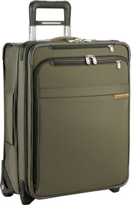 Briggs & Riley Baseline International Carry-On Wide Body Upright Olive - Briggs & Riley Softside Carry-On