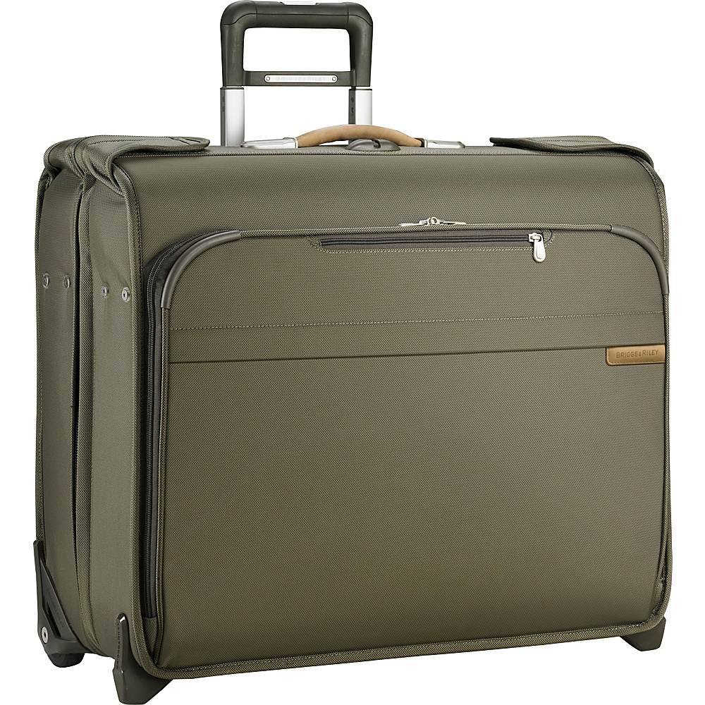 Briggs & Riley Baseline Deluxe Wheeled Garment Bag Olive - Briggs & Riley Garment Bags