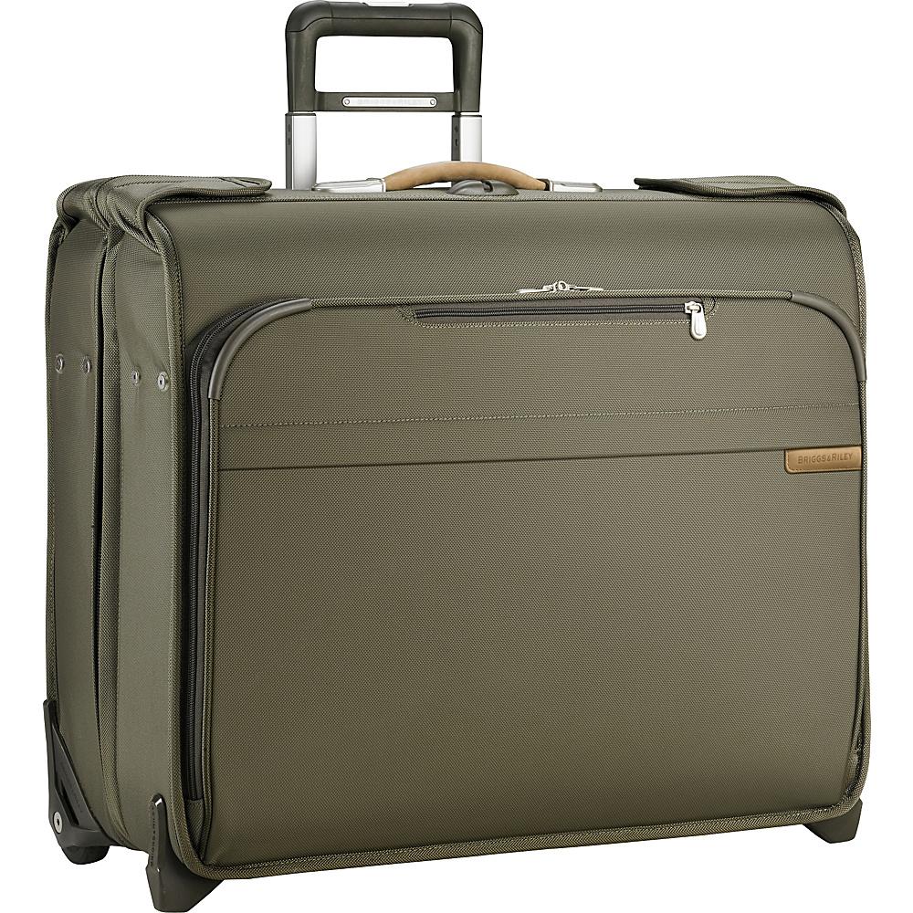 Briggs & Riley Baseline Deluxe Wheeled Garment Bag Olive - Briggs & Riley Garment Bags