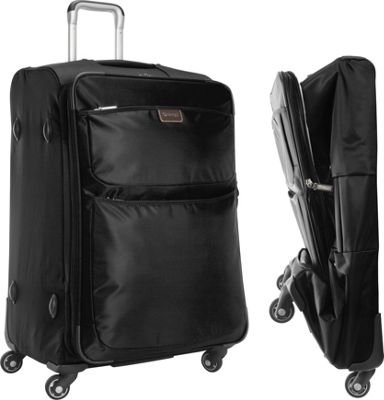 "Image of biaggi Contempo Foldable 28"" Expandable Spinner Black - biaggi Softside Checked"