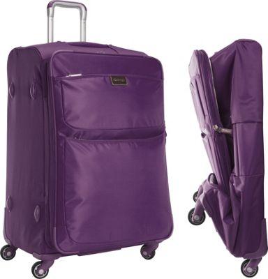 "Image of biaggi Contempo Foldable 28"" Expandable Spinner Purple - biaggi Large Rolling Luggage"