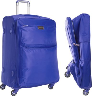 biaggi Contempo Foldable 28 inch Expandable Spinner Cobalt Blue - biaggi Softside Checked