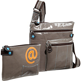 Jen Battery Powered iPad Crossbody Bag Charcoal