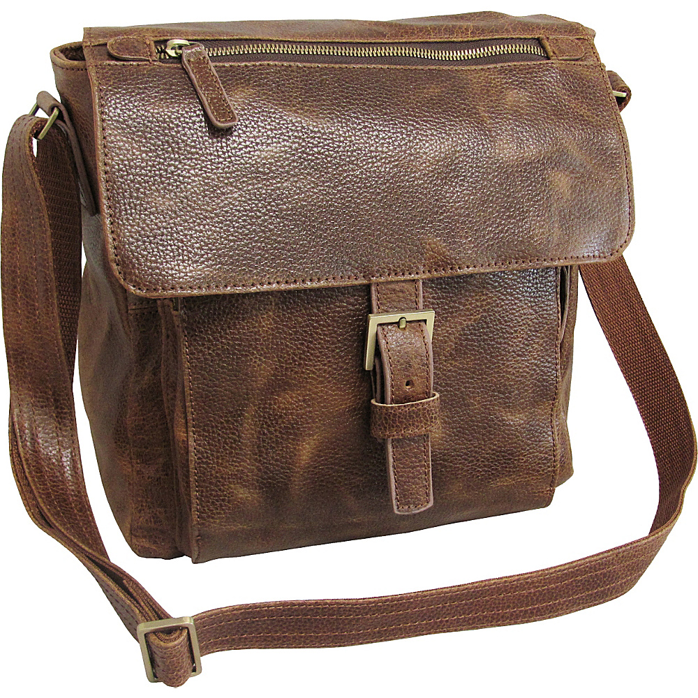 AmeriLeather Finn Messenger Bag Brown - AmeriLeather Other Mens Bags - Work Bags & Briefcases, Other Men's Bags
