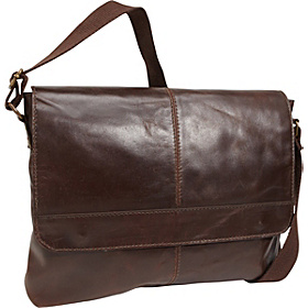 1/2 Flap Messenger Bag BROWN