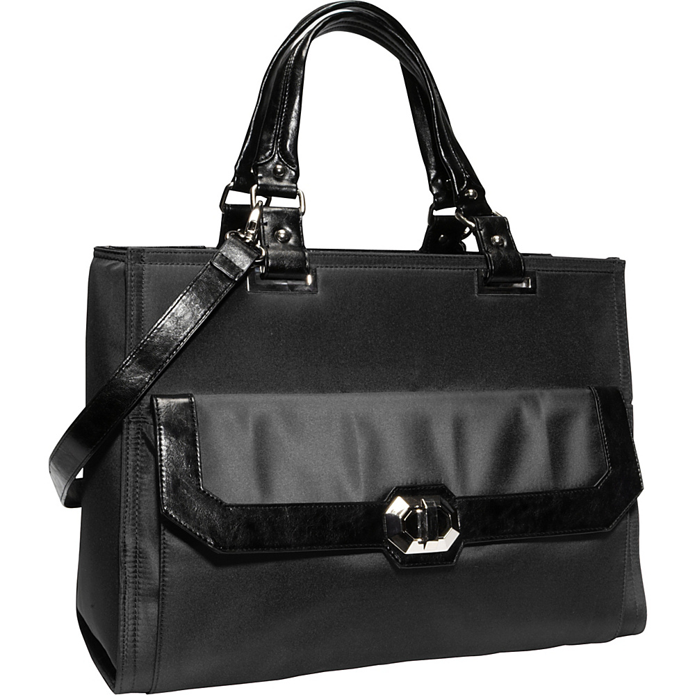 Women In Business Francine Collection Madison 16.1 Laptop Tote Black Women In Business Women s Business Bags