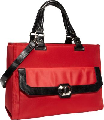 Women In Business Francine Collection - Madison 16.1 inch Laptop Tote Red / Black - Women In Business Women's Business Bags