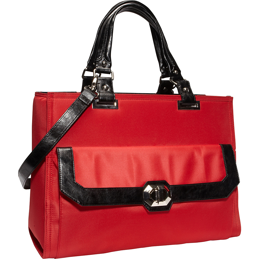 Women In Business Francine Collection Madison 16.1 Laptop Tote Red Black Women In Business Women s Business Bags