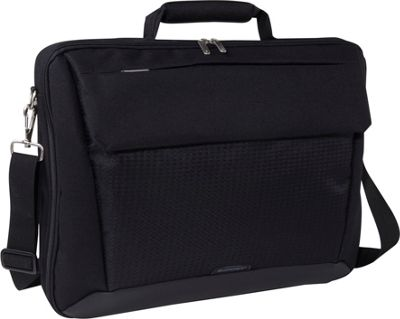 Sumdex Passage Single Compartment Computer Brief -17. 3 Jet Black - Sumdex Non-Wheeled Computer Cases