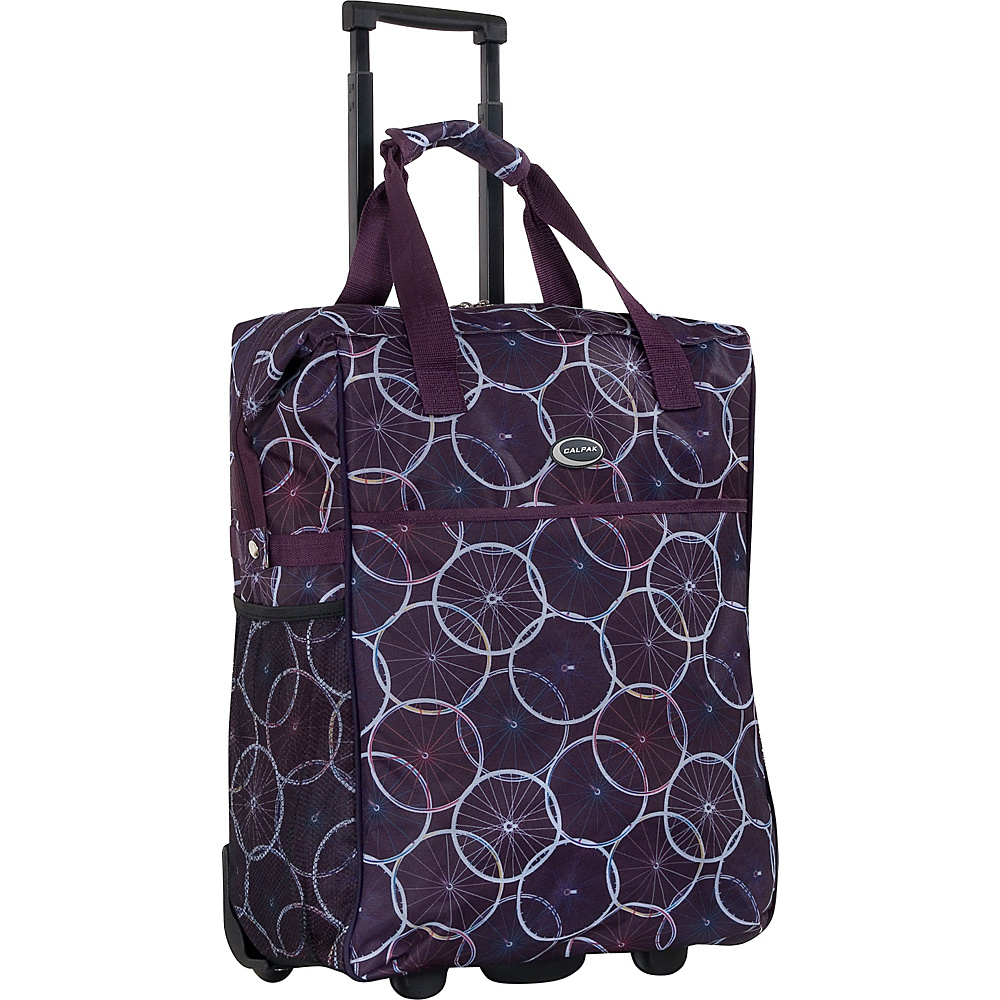 "CalPak The Big Eazy 20"" Rolling Tote Purple Wheels - CalPak Luggage Totes and Satchels"