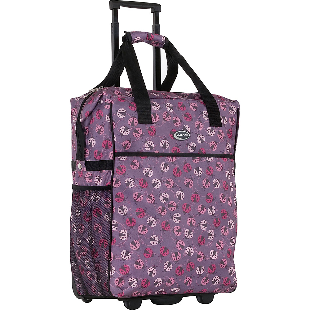 "CalPak The Big Eazy 20"" Rolling Tote Pink Ladybug - CalPak Small Rolling Luggage"